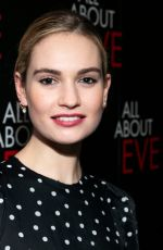 Lily James At Press night after party for