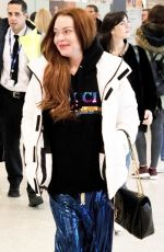 Lindsay Lohan Touches down in Athens, Greece from Dubai