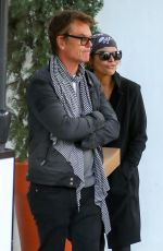 Lisa Rinna and Harry Hamlin enjoy lunch at Fig & Olive in West Hollywood