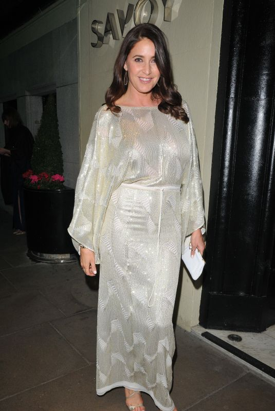 Lisa Snowdon At 2nd Annual Gala Party Savoy Hotel in London