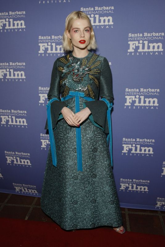 Lucy Boynton At Outstanding Performer Award Honoring Rami Malek during 34th Santa Barbara International Film Festival in Santa Barbara