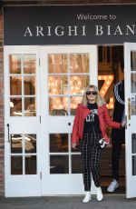 Lucy Fallon and her boyfriend Tom Leech furniture shopping at Arighi Bianchi in Macclesfield in Cheshire