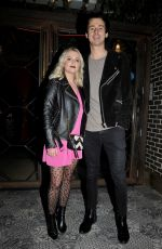 Lucy Fallon Arriving at Impossible bar and restaurant in Manchester