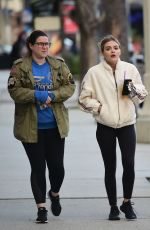 Lucy Hale Grabs a drink at the Coffee Bean with her pals in LA