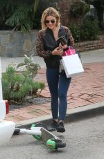 Lucy Hale Leaving Kate Somerville Skincare in West Hollywood