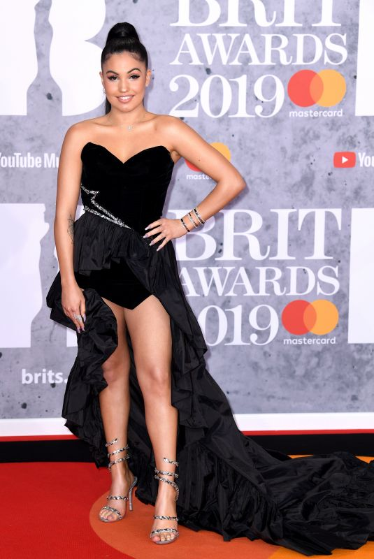 Mabel McVey At The BRIT Awards 2019 held at The O2 Arena in London