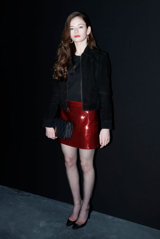 Mackenzie Foy At Saint Laurent show in Paris
