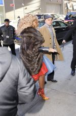 Mary J Blige Leaves at Good Morning America