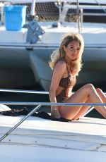 Megan McKenna Sunbathing on a boat in Tenerife