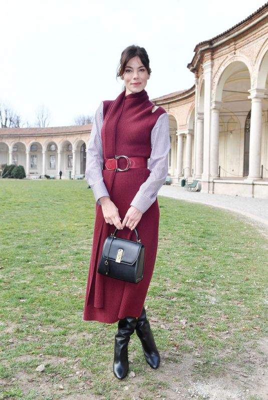 Michelle Monaghan At Salvatore Ferragamo show during Milan Fashion Week