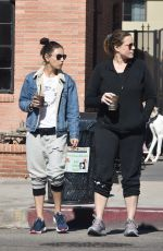 Mila Kunis Steps out for coffee with her assistant in Beverly Hills