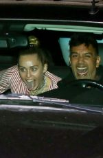 Miley Cyrus Out for dinner at Soho House in Malibu