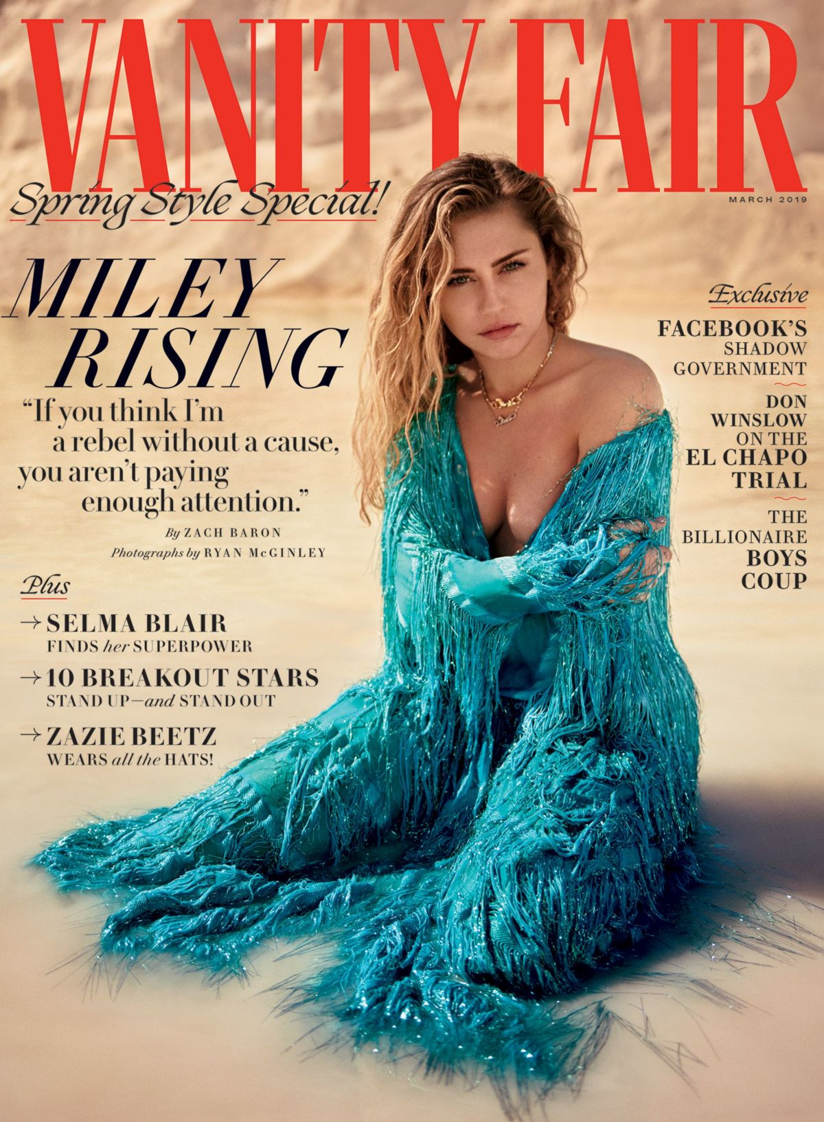 Miley Cyrus – Vanity Fair Magazine, March 2019 - Celebzz