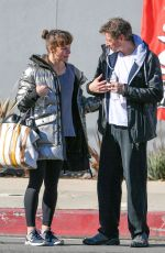 Milla Jovovich and Paul Anderson are seen leaving the gym in Los Angeles