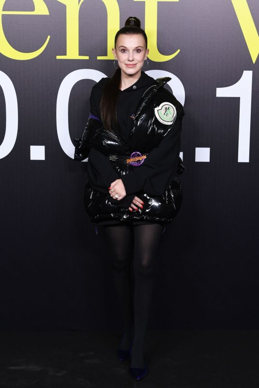 Millie Bobby Brown At Moncler Genius Show, One House Different Voices, Milan Fashion Week Autumn/Winter