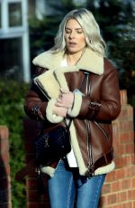 Mollie King Out in London