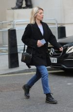 Mollie King Steps out from Radio Appearance at BBC Studios in London