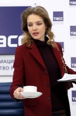 Natalia Vodianova At Press Conference in Moscow