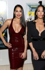 Nikki Bella, Brie Bella At Fighting With My Family - LA Tastemaker Screening at The London Hotel, Los Angeles
