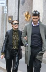 Olivia Palermo Shopping at the Fratelli Rossetti boutique in Milan