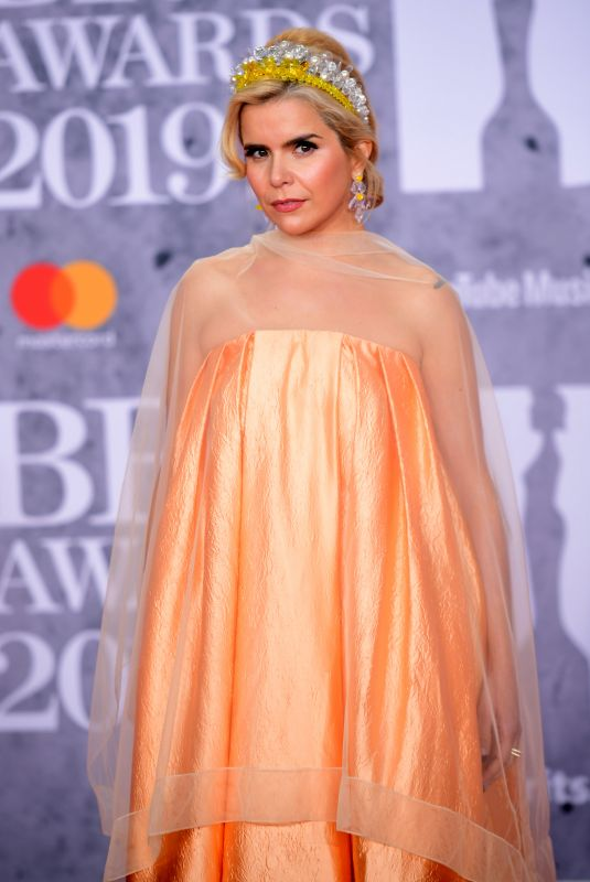 Paloma Faith At The BRIT Awards 2019 held at The O2 Arena in London