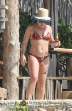 Pink In Bikini candids in Tulum