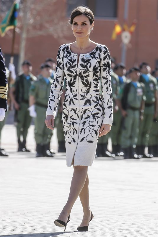 Queen Letizia Attends the Delivery of the National Flag to the