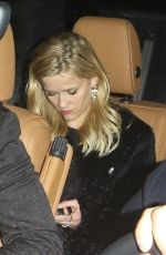 Reese Witherspoon Exits the Sunset Tower Hotel after celebrating Jennifer Aniston