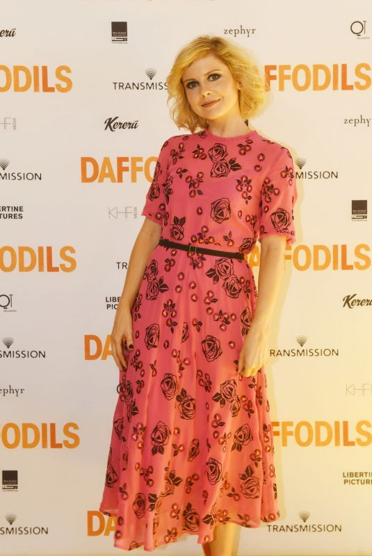 Rose McIver At DAFFODILS World Premiere at The Embassy Theatre in Wellington, New Zealand