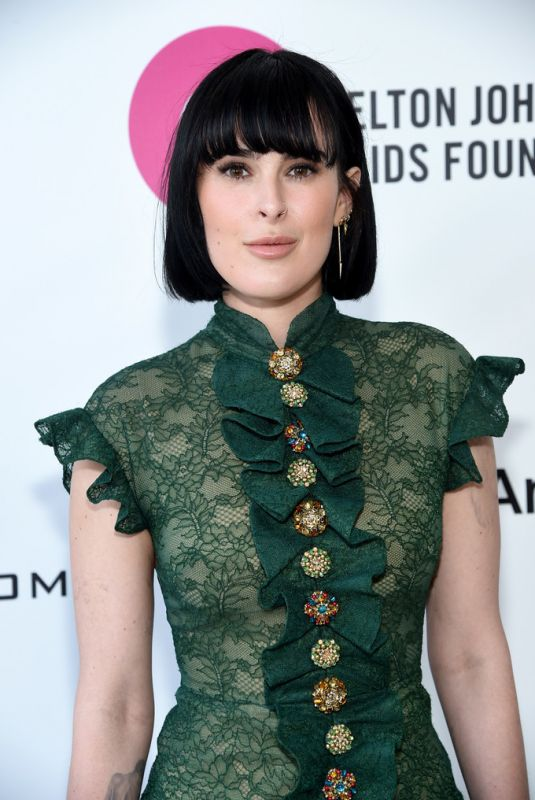 Rumer Willis At 27th Annual Elton John AIDS Foundation Academy Awards Viewing Party in Hollywood