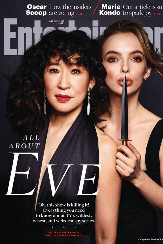 Sandra Oh & Jodie Comer - Entertainment Weekly Magazine March 2019