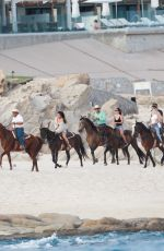 Selena Gomez At riding a horse in Cabo San Lucas