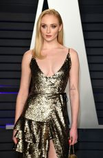 Sophie Turner At 2019 Vanity Fair Oscar Party hosted by Radhika Jones at Wallis Annenberg Center for the Performing Arts in Beverly Hills