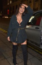 Tahlia Chung , Bethan Kershaw and Chloe Ferry filming on a night out at Bijoux in Newcastle