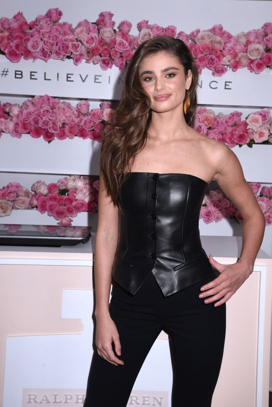 Taylor Hill Hosts Ralph Lauren ROMANCE Mobile Pop-Up in New York City