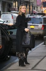 Taylor Schilling Arriving at the BUILD studio in New York City