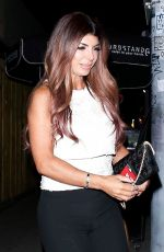 Teresa Giudice Continues her weekend fun with a girls night at Nice Guy in West Hollywood