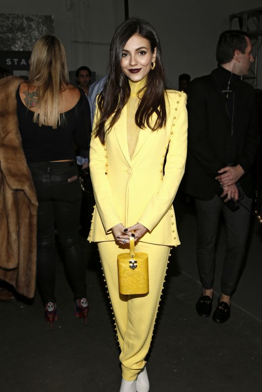 Victoria Justice At Pamella Roland fashion show during New York Fashion Week at Pier 59 in New York City