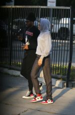 Zendaya Takes a walk with a friend