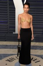 Zoe Kravitz At 2019 Vanity Fair Oscar Party hosted by Radhika Jones at Wallis Annenberg Center for the Performing Arts in Beverly Hills