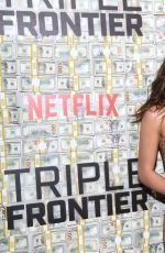 Adria Arjona At Triple Frontier Premiere in NY
