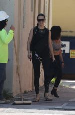 Adriana Lima Leaving a workout in Miami