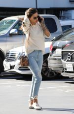 Alessandra Ambrosio Going to a business meeting in Los Angeles