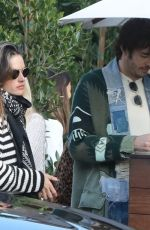 Alessandra Ambrosio Leaves Soho House after having lunch in Malibu