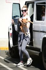 Alessandra Torresani Shopping with her dog in Studio City