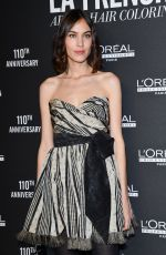 Alexa Chung At La French Art of Coloring 110th Anniversary of L
