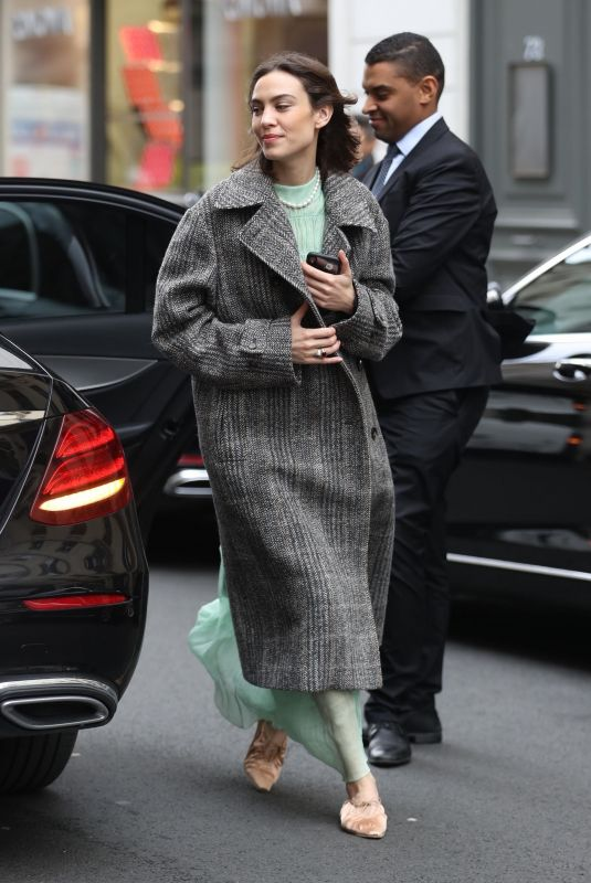 Alexa Chung At Le Bristol Hotel during Paris