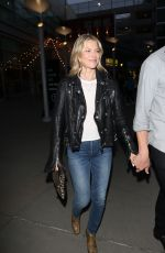Ali Larter and Hayes MacArthur outside