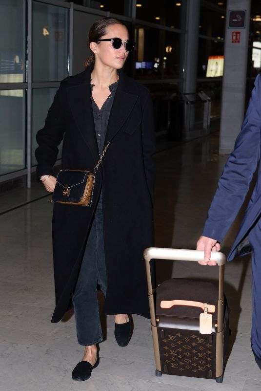 Alicia Vikander At Charles de Gaulle Airport in Paris France