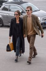 Alicia Vikander & Michael Fassbender Arriving at Girafe restaurant in Paris